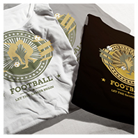 Football Competition Theme T-shirt Design