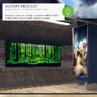 Subway Station Mockups Adverts