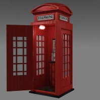 Low Poly Phone Booth