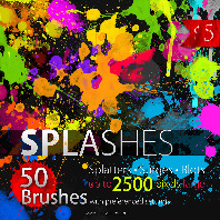 High Resolution SPLASHES Brush set for Photoshop