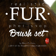 Realistic FUR Photoshop Brush Set
