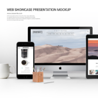 Web Showcase Presentation PSD Mockup 01